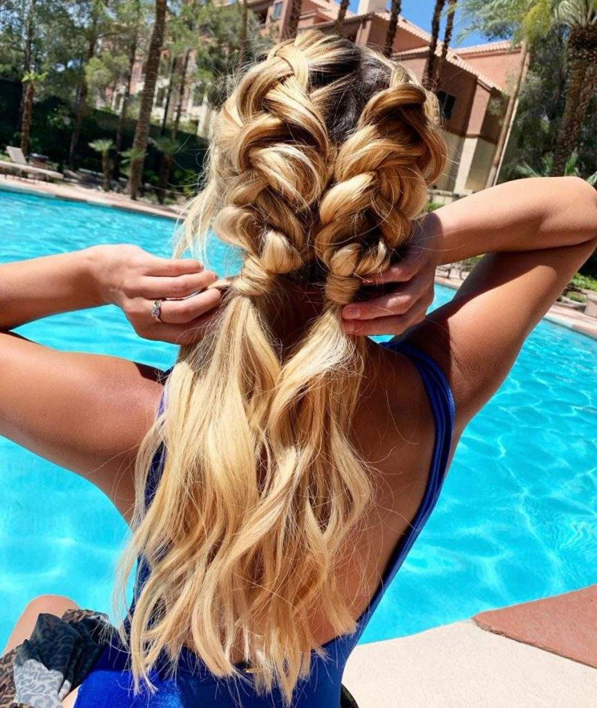 Ponytail Extensions When Swimming