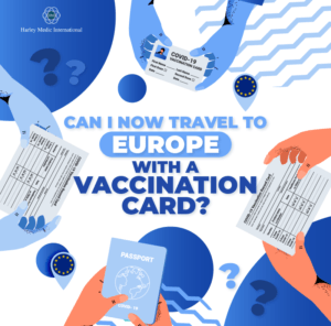 travel to Europe with a vaccination card